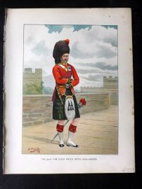 Richards Her Majesty's Army 1890 Military Print. Black Watch. Royal Highlanders